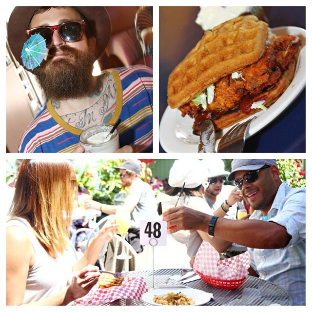 Catch our #brunch ever Sunday with music from @mom_fam and food from @chicknfriedsoul